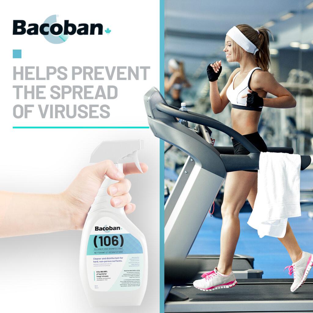 Gym with Bacoban spray